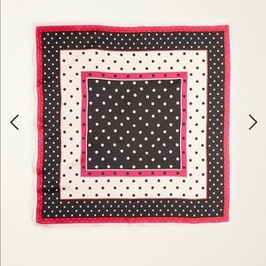 Ann Taylor polka dot silk little scarf